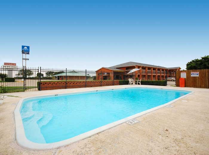 Seasonal Outdoor Pool  Hotels Motels Amenities Newly Remodeled Free WiFi Free Continental Breakfast Americas Best Value Inn Rockdale TX * Reasonable Affordable Rates Amenities Hotels Motels Lodging Accomodations Great Amenities Rockdale Texas