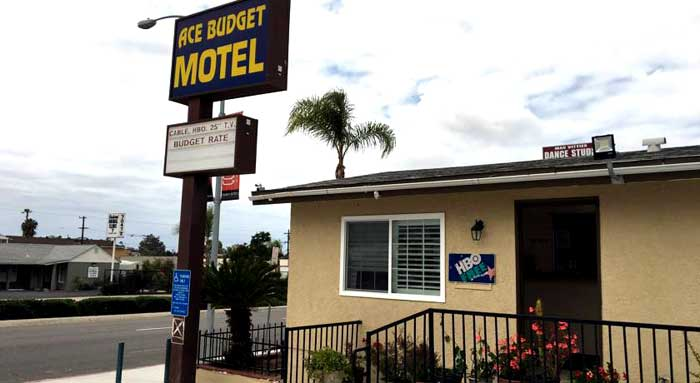 Budget Affordable Lodging Hotels Motels Discount Cheap rates in San Diego La Mesa Ace Budget Motel