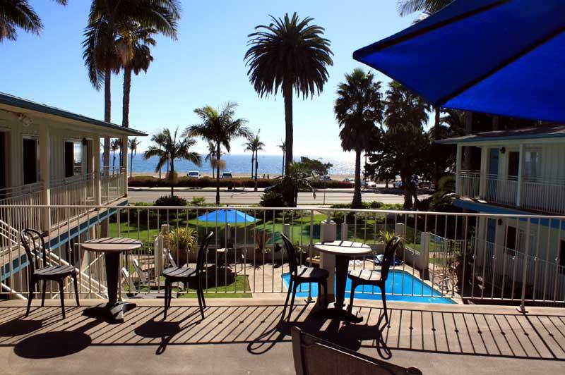 Deck Views of Ocean Cabrillo Inn Santa Barbara California