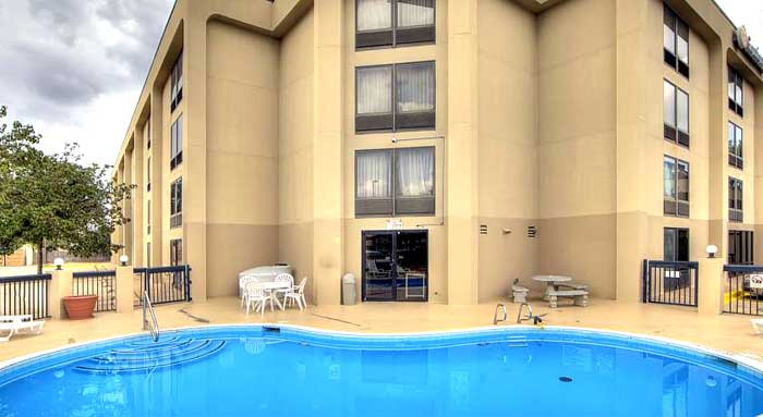 Seasonal Outdoor Pool Hotels Motels Amenities Newly Remodeled Free WiFi Free Continental Breakfast Comfort Inn Sheppard Air Force Base Wichita Falls TX Reasonable Affordable Rates Amenities Hotels Motels Lodging Accomodations Great Amenities Wichita Falls