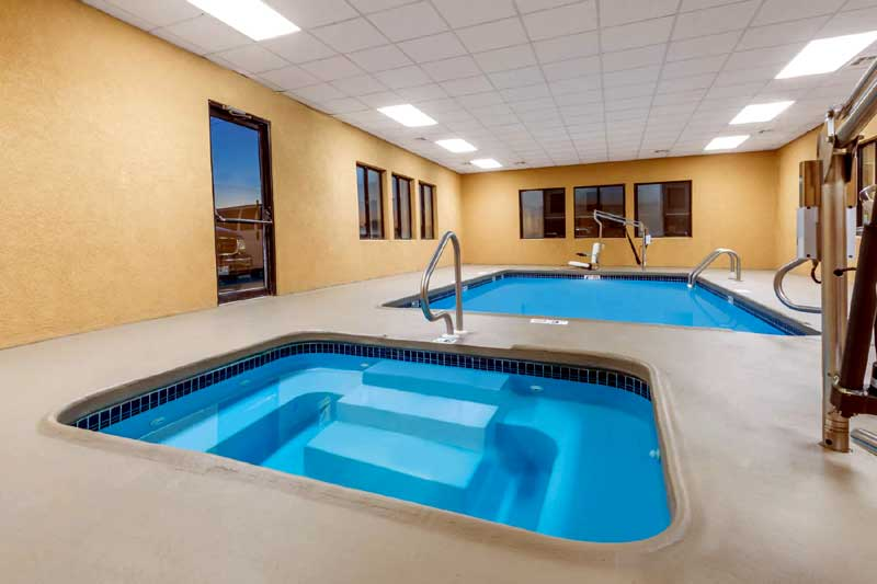 Indoor Heated Pool and Spa Budget Discount Cheap Hotels Motels Lodging Days Inn McPherson