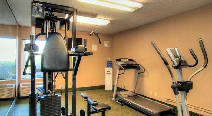 Fitness Center Hotels Motels Amenities Newly Remodeled Free WiFi Free Continental Breakfast Quality Inn and Suites Duke University Durham NC Reasonable Affordable Rates Amenities Hotels Motels Lodging Accomodations Great Amenities Durham North Carolina
