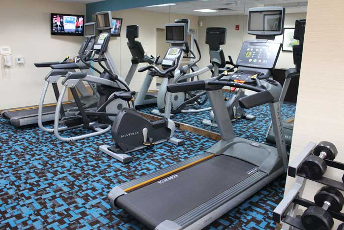 Fitness Room Hotels Motels Amenities Newly Remodeled Free WiFi Free Continental Breakfast Fairfield Inn and Suites Liberty Kansas City MO Reasonable Affordable Rates Amenities Hotels Motels Lodging Accomodations Great Amenities Kansas City Missouri