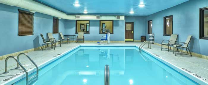 Indoor Heated Pool and Spa Budget Discount Cheap Hotels Motels Lodging Accommodations