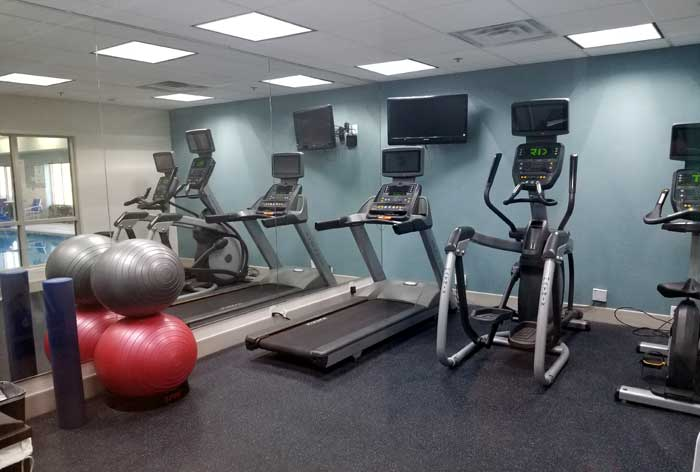 Fitness Room Hotels Motels Amenities Newly Remodeled Free WiFi Free Continental Breakfast Holiday Inn Express and Suites Wichita Airport Mcpherson KS Reasonable Affordable Rates Amenities Hotels Motels Lodging Accomodations Great Amenities Mcpherson Kansa