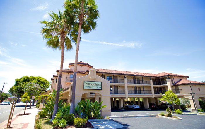 Downtown San Luis Obispo Hotel Motel Lamplighter Inn former Comfort Inn Cal Poly Budget Cheap Clean