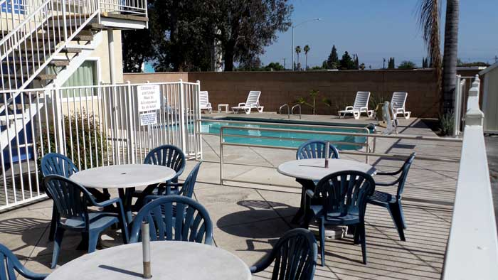Patio  Motels Amenities Newly Remodeled Free WiFi Free Continental Breakfast Motel 6 Airport Ontario CA * Reasonable Affordable Rates Amenities Hotels Motels Lodging Accomodations Great Amenities Ontario California