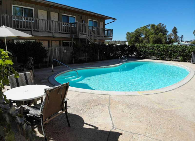 Seasonal Outdoor Pool Hotels Motels Amenities Newly Remodeled Free WiFi Free Continental Breakfast Ramona Valley Inn East San Diego Ramona CA Reasonable Affordable Rates Amenities Hotels Motels Lodging Accomodations Great Amenities Ramona California