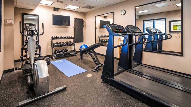 Fitness RoomHotels Motels Cheap Red River Inn Burkburnett Accommodations Lodging Pet Friendly Business Travelers
