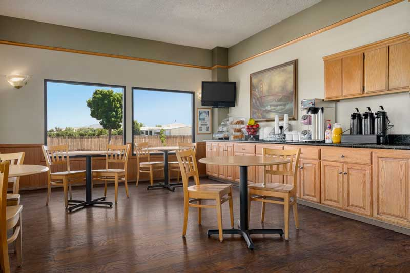 Free Continental Breakfast Amenities Newly Remodeled Free WiFi Free Continental Breakfast Super 8 Olive Tree Lindsay CA * Reasonable Affordable Rates Amenities Hotels Motels Lodging Accomodations Great Amenities Lindsay California