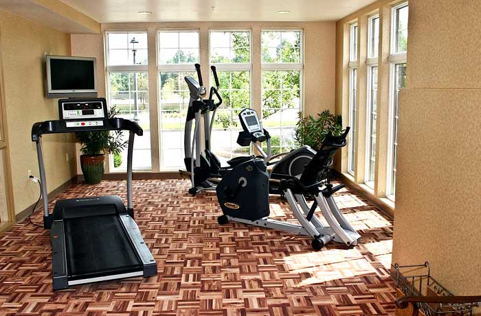 State of the art Fitness Center Hotels Motels Amenities Newly Remodeled Free WiFi Free Continental Breakfast The Wildwood Hotel Boutique Wildwood MO Reasonable Affordable Rates Amenities Hotels Motels Lodging Accomodations Great Amenities Wildwood Missour
