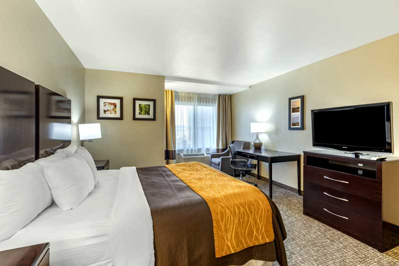 Premium Bedding Hotels Motels in San Bernardino Colton California Comfort Inn and Suites Lodging