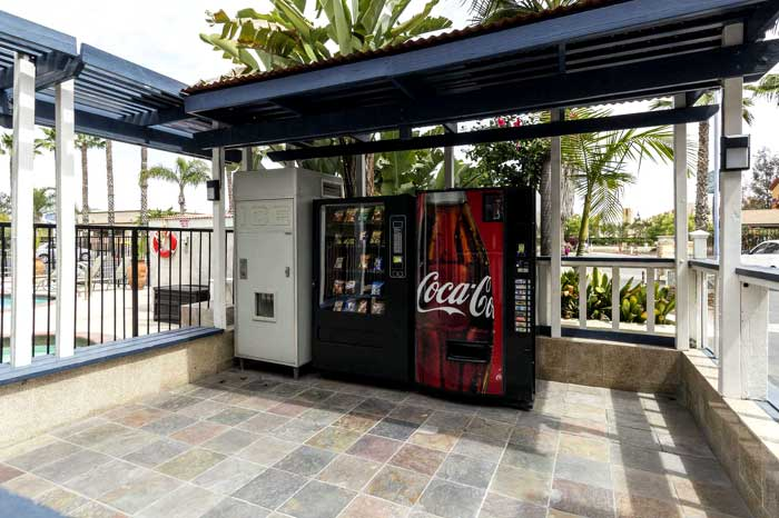 Vending Machines Newly Remodeled Hotel Motel in Escondido Econo Lodge Inn and Suites Budget Cheap Affordable Lodging