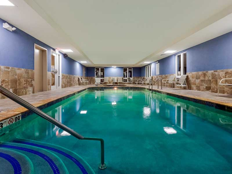 Indoor Heayed Pool Budget Affordable Lodging Accommodations Holiday Inn Express Inn and Suites Salina Kansas