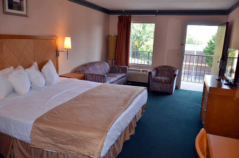Upgraded Rooms Palmetto Inn and Suites Sofa Bed Pull Out Affordable Lodging Hotels in Cheraw SC.