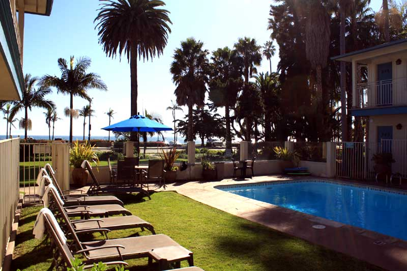 Outdoor Heated Pool with Cabrillo Inn Santa Barbara California East Beach