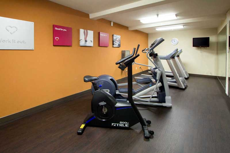 Fitness Center Hotels Motels Amenities Newly Remodeled Free WiFi Free Continental Breakfast Comfort Inn Suites Downtown Visalia CA * Reasonable Affordable Rates Amenities Hotels Motels Lodging Accomodations Great Amenities Visalia California