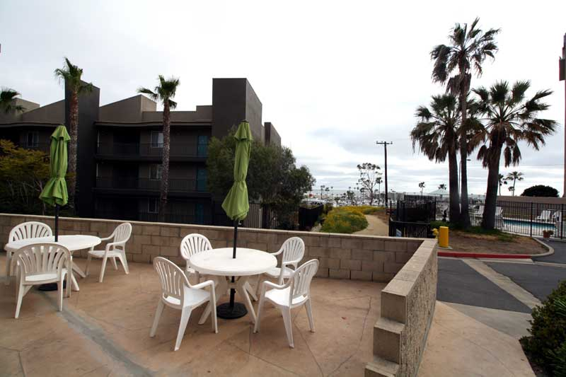 Outside Patio pickup Amenities Hotels Lodging Accommodations Oceanside california * Budget Hotels Motels lodging Amenities