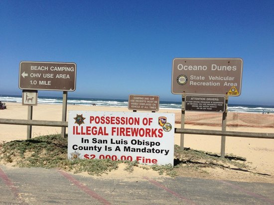 Walk to Oceano Dunes Entrance and ATV Rentals