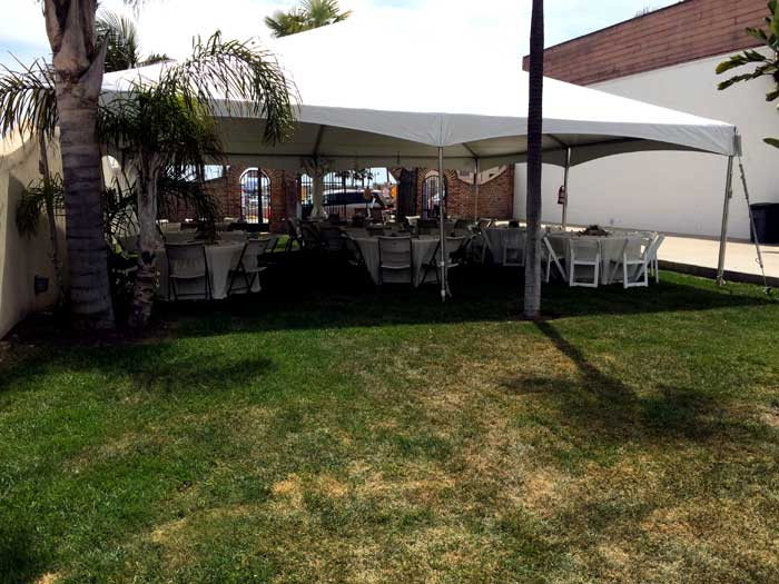 Seating under Tent Catering Pismo Beach
