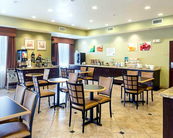 Free Hot Continental Breakfast Hotels Motels Amenities Newly Remodeled Free WiFi Free Continental Breakfast Quality Inn and Suites Houston NASA La Porte TX Reasonable Affordable Rates Amenities Hotels Motels Lodging Accomodations Great Amenities La Porte