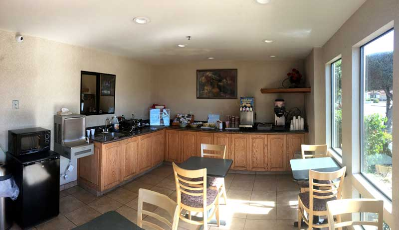 Free Hot Continental Breakfast Ramada Olive Tree Inn San Luis Obispo Ca.