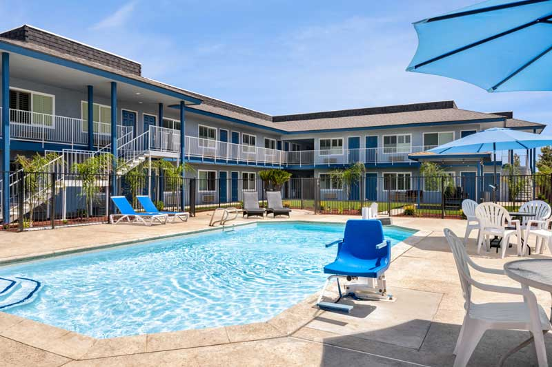Seasonal Outdoor Pool Motels Amenities Newly Remodeled Free WiFi Free Continental Breakfast Super 8 Olive Tree Lindsay CA * Reasonable Affordable Rates Amenities Hotels Motels Lodging Accomodations Great Amenities Lindsay California
