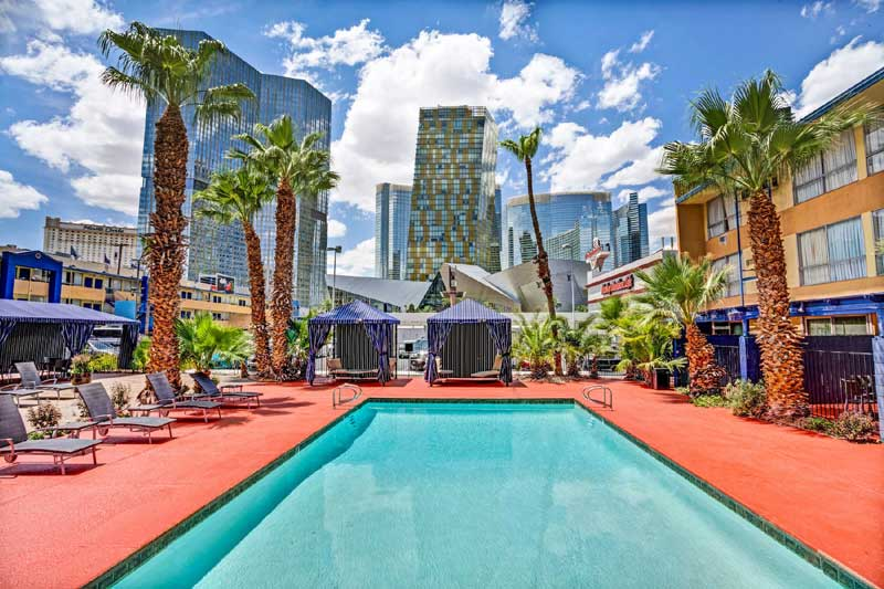 Pool Business Center Accommodations Travelodge Las Vegas Strip