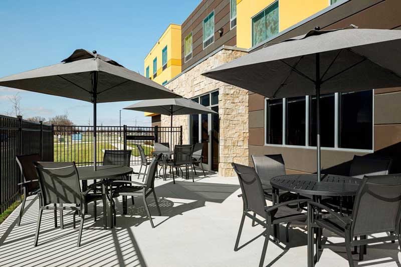 BBQ Area Hotels Motels Amenities Newly Remodeled Free WiFi Free Continental Breakfast Fairfield Inn and Suites by Marriott Salina KS Reasonable Affordable Rates Amenities Hotels Motels Lodging Accomodations Great Amenities Salina Kansas