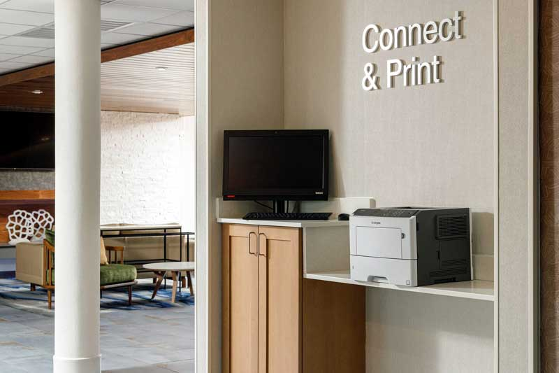 Business Center Hotels Motels Amenities Newly Remodeled Free WiFi Free Continental Breakfast Fairfield Inn and Suites by Marriott Salina KS Reasonable Affordable Rates Amenities Hotels Motels Lodging Accomodations Great Amenities Salina Kansas
