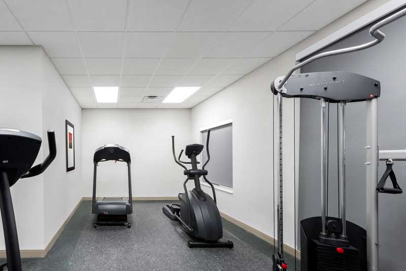 Fitness Center Hotels Motels Amenities Newly Remodeled Free WiFi Free Continental Breakfast Hawthorn Suites Loveland Johnstown CO Reasonable Affordable Rates Amenities Hotels Motels Lodging Accomodations Great Amenities Johnstown Colorado