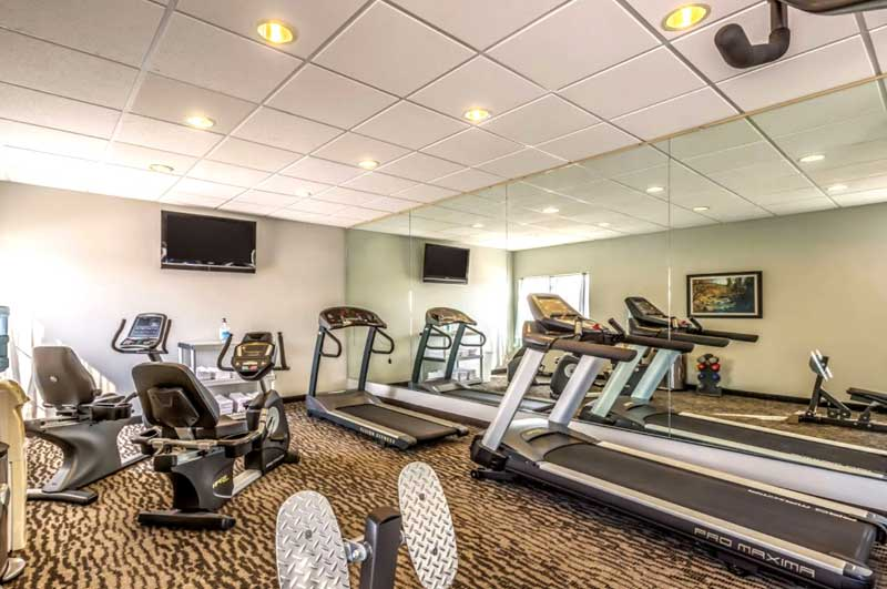 Fitness Room Hotels Motels Amenities Newly Remodeled Free WiFi Free Continental Breakfast La Quinta Inn and Suites Loveland CO Reasonable Affordable Rates Amenities Hotels Motels Lodging Accomodations Great Amenities Loveland Colorado
