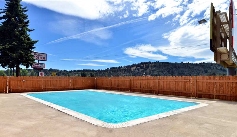 Outdoor Heated Pool Hotels Motels Amenities Newly Remodeled Free WiFi Free Continental Breakfast Oregon Motel 8 RV Park Klamath Falls OR Reasonable Affordable Rates Amenities Hotels Motels Lodging Accomodations Great Amenities Klamath Falls Oregon