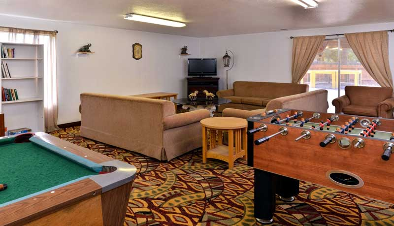 Rec Area Hotels Motels Amenities Newly Remodeled Free WiFi Free Continental Breakfast Oregon Motel 8 RV Park Klamath Falls OR Reasonable Affordable Rates Amenities Hotels Motels Lodging Accomodations Great Amenities Klamath Falls Oregon