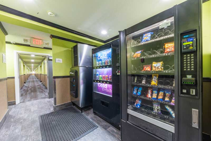 Vending Machines Hotels Motels Amenities Newly Remodeled Free WiFi Free Continental Breakfast Quality Inn & Suites Sacramento CA Reasonable Affordable Rates Amenities Hotels Motels Lodging Accomodations Great Amenities Sacramento California