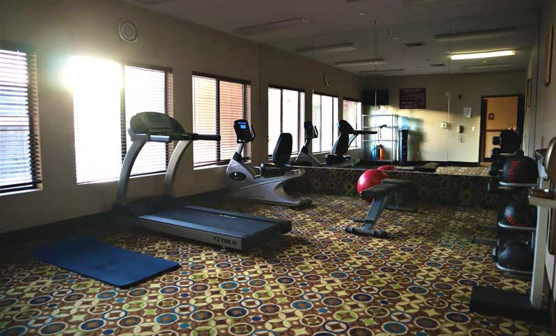 Fitness Hotels Motels Amenities Newly Remodeled Free WiFi Free Continental Breakfast Rodeway Inn and Suites Joshua Tree Twentynine Palms CA Reasonable Affordable Rates Amenities Hotels Motels Lodging Accomodations Great Amenities Twentynine Palms Califo