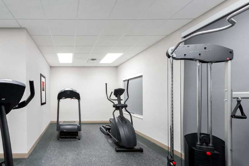 Fitness Room Hotels Motels Amenities Newly Remodeled Free WiFi Free Continental Breakfast Wingate by Wyndham Loveland Johnstown CO Reasonable Affordable Rates Amenities Hotels Motels Lodging Accomodations Great Amenities Johnstown Colorado